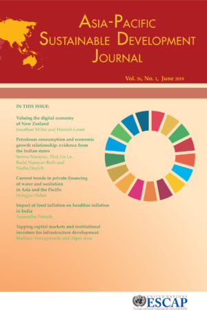 Asia-Pacific Sustainable Development Journal 2019, Issue No. 1